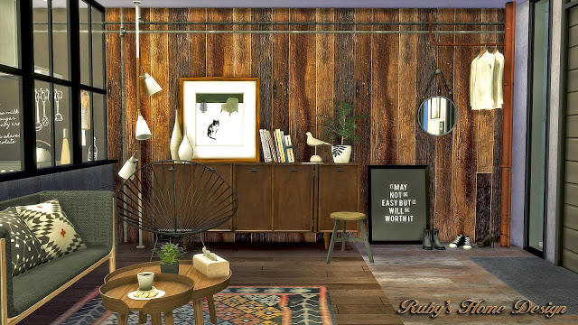 Mid Century Industrial Loft by RubyRed