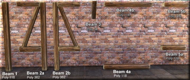 Brick Kitchen Series_Beams and Brickwalls Part 10 by Asyli