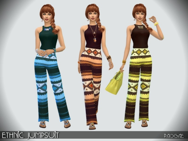 Ethnic Jumpsuit by Paogae