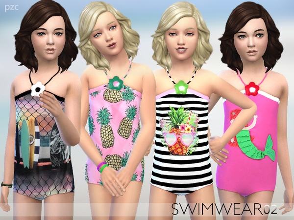 PZC_Girls Swimwear 02 by Pinkzombiecupcakes