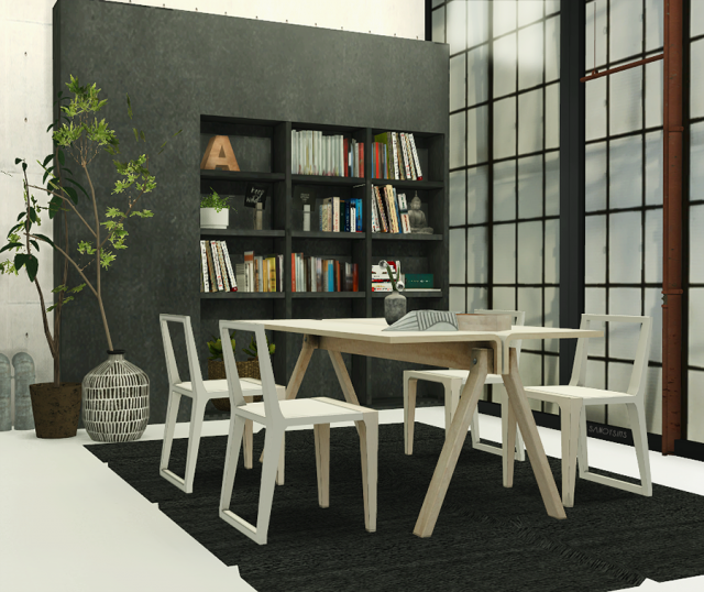 TS2 Barca Dining Set Conversion от SanoySims
