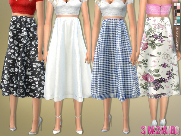 172 - Knee Length Skirt by sims2fanbg