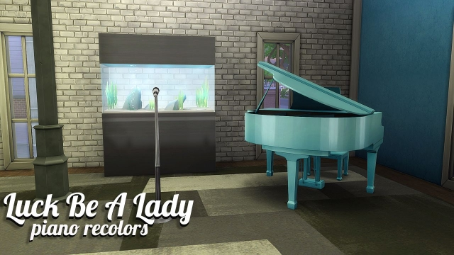 Luck Be A Lady Piano Recolors от SimSnacks