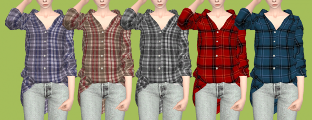 Loose Fit Plaid Shirt от Tukete