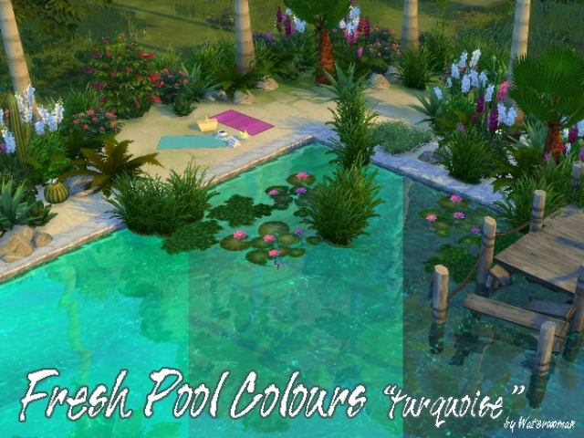 Fresh Pool Colours Turquoise by WaterWoman