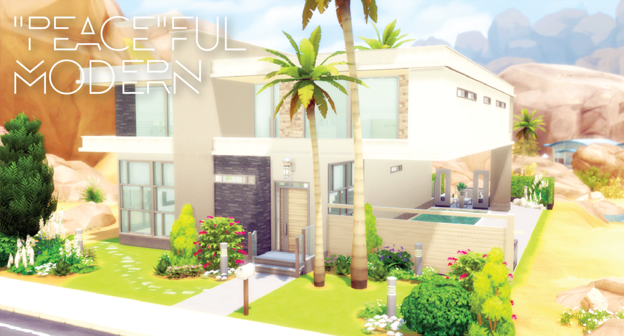 """Peace""ful Modern House by Simsza"
