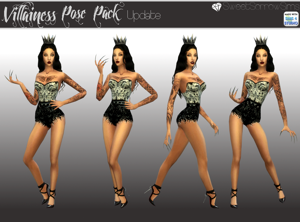 Villainess Poses by SweetSorrowSims