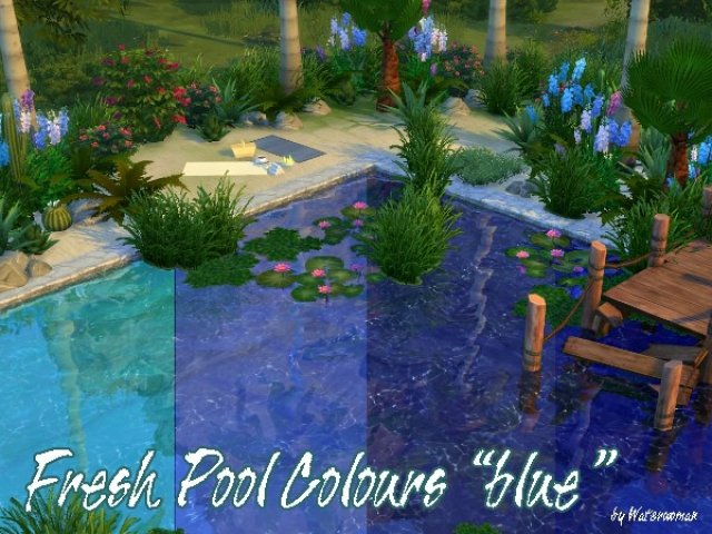 Fresh Pool Colours Blue by WaterWoman
