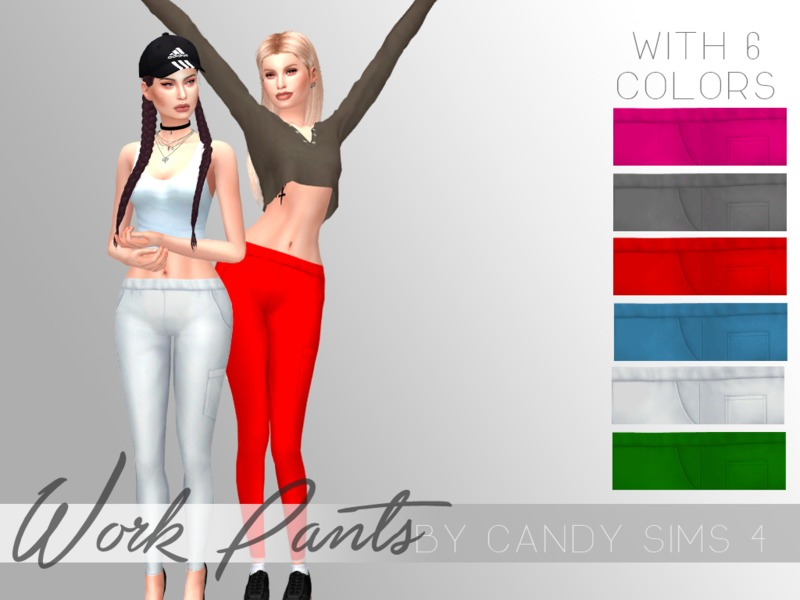 CandySims4 - Work Pants by c4ndypr1ncess