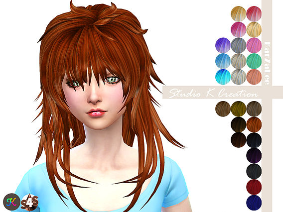 Animate hair 57 by KarZaLee