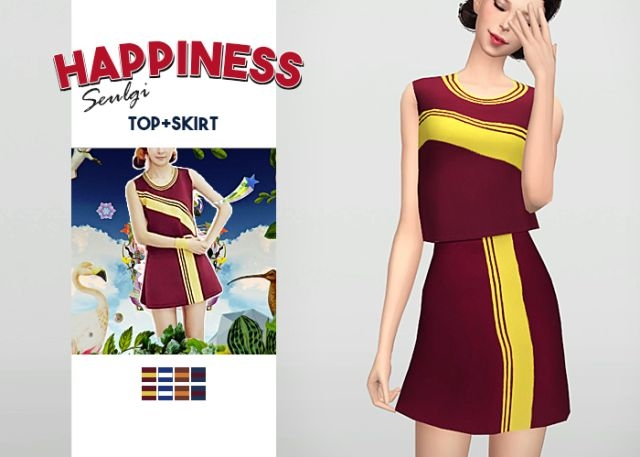 Happiness Seulgi Top + Skirt by Waekey