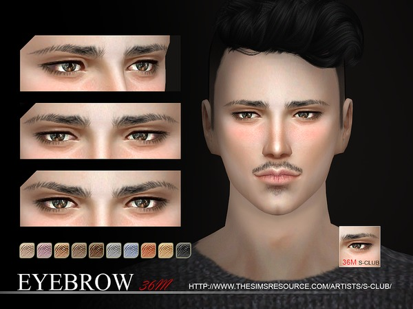 S-Club WM thesims4 Eyebrows36 M