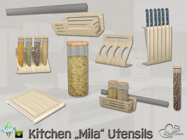 Kitchen Utensils Mila by BuffSumm