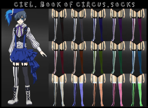 Ciel.BookOfCircus.Socks by DecayClown