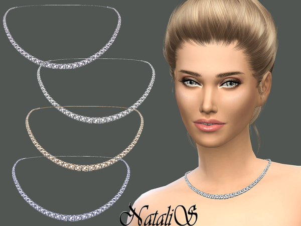 NataliS_Bridal crystal necklace
