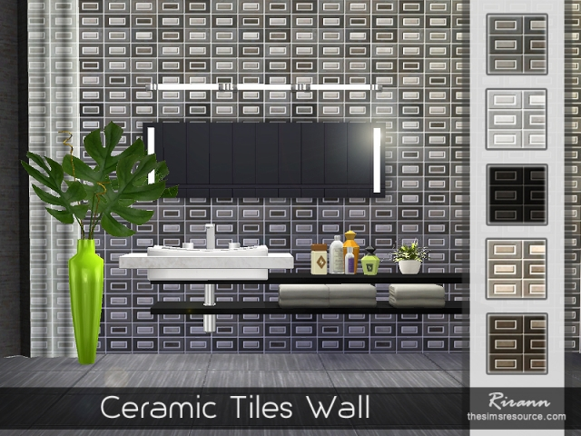 Ceramic Tiles Wall by Rirann