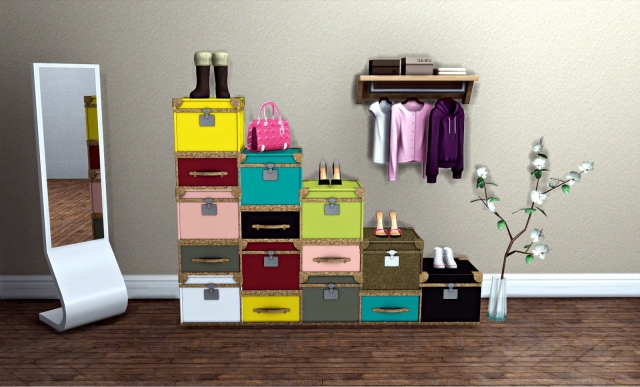 STACKABLE SUITCASE CHESTS от Leo4Sims