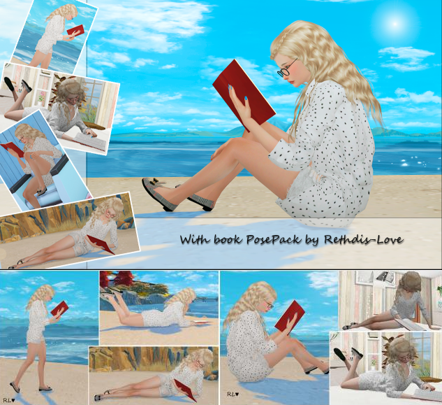 Poses with book by Rethdis-love