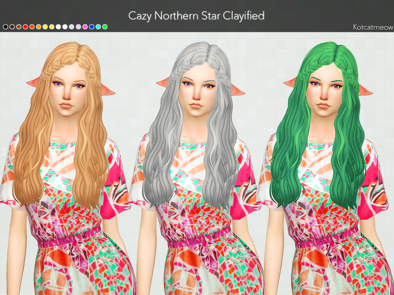 Cazy Northern Star Hair Clayified by Kotcatmeow