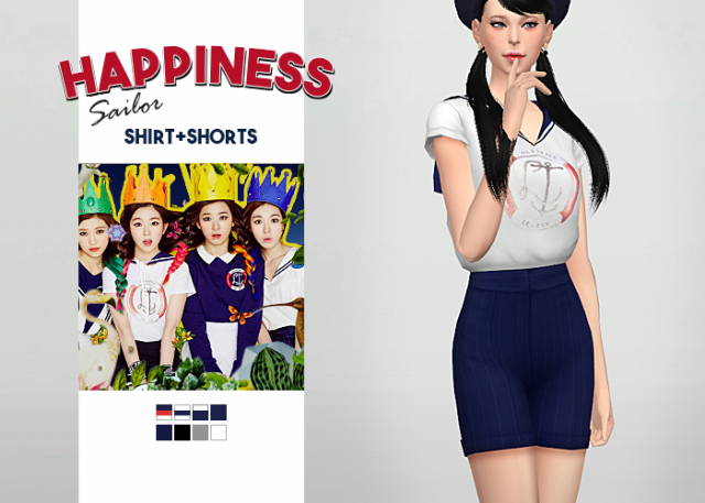 Happiness Sailor Shirt + Shorts by waekey
