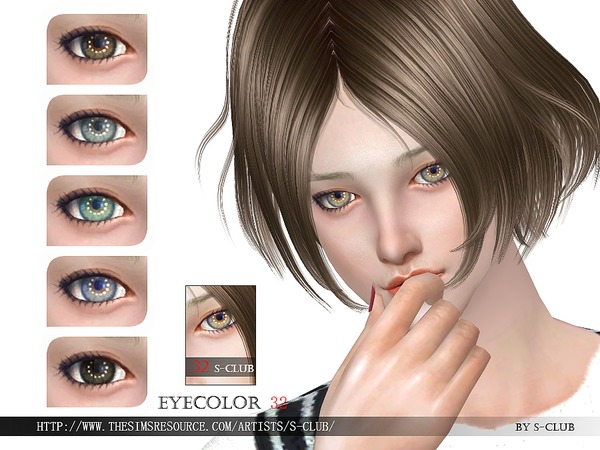 S-Club WM thesims4 eyecolor 32