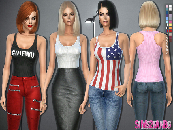 176 - Classic tank top by sims2fanbg