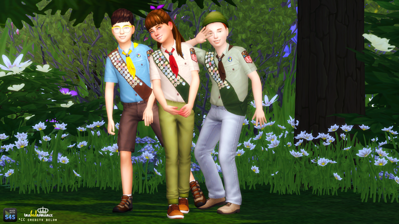 School Uniforms and Scouts Top for Boys and Girls by Inabadromance