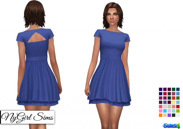 Layered Cap Sleeve Sundress by NyGirl