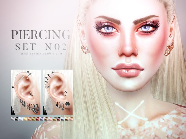 Piercing Set N02 by Pralinesims