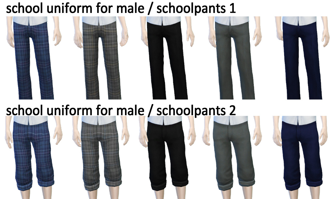 School uniform set for male by imadako