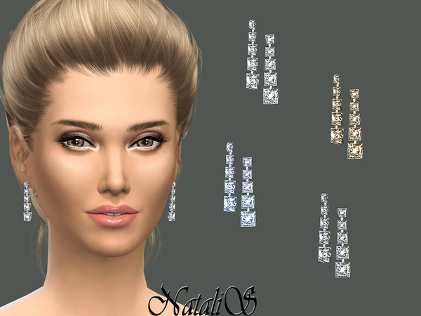 NataliS_Bridal crystal drop earrings