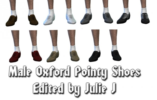 Male Oxford Pointy Shoes Edited by Julie J