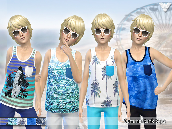 Summer Tank Tops for Boys by Pinkzombiecupcakes