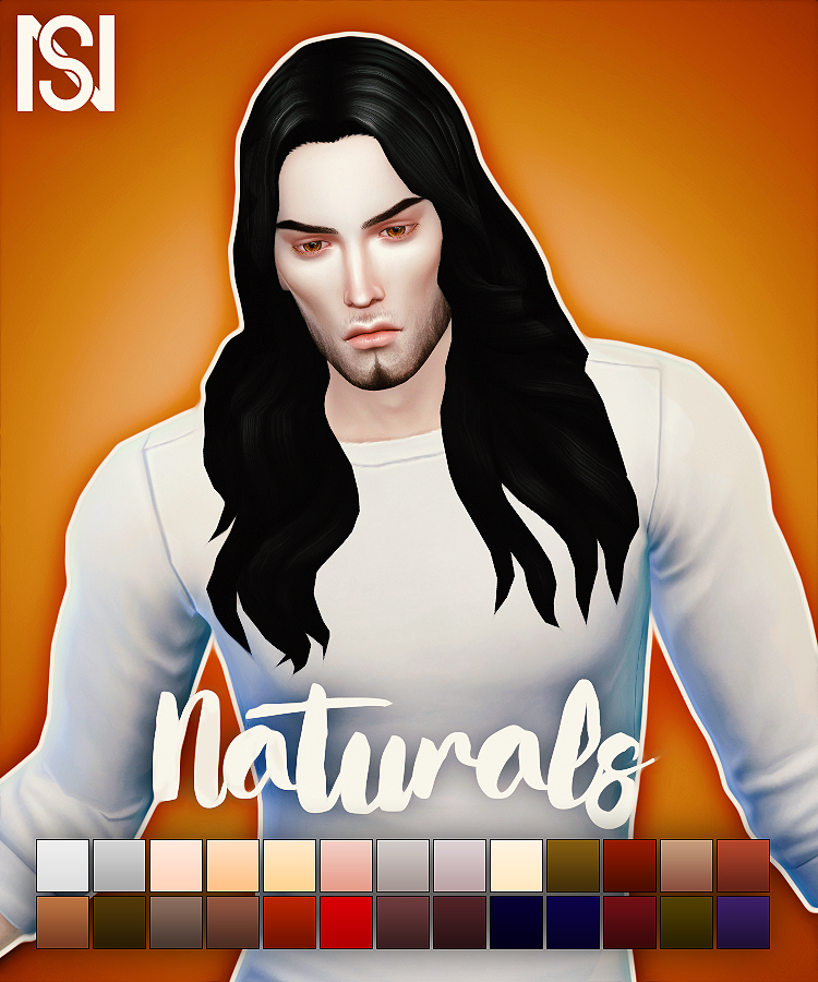 Long Wavy Parted Hair Converted for Males by Scarlettnyxslair