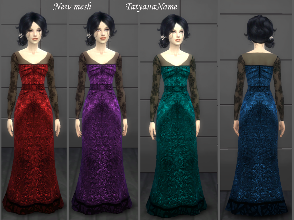 Lace Evening Dress by Tatyananame