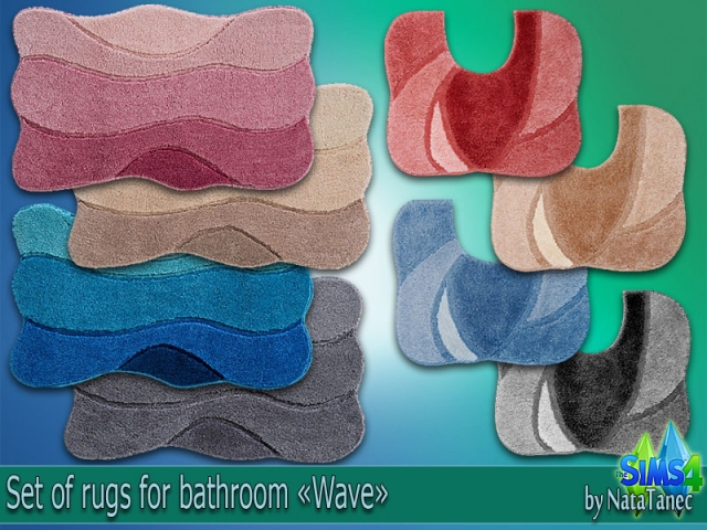 "Set of rugs ""Wave"" by Natatanec"