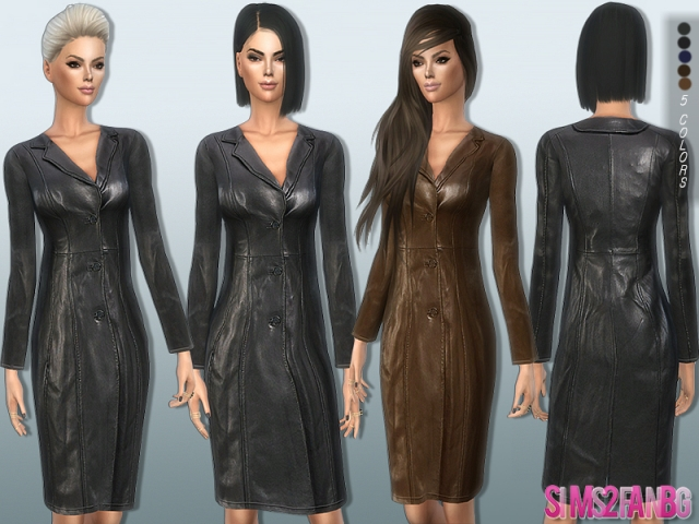 177 - Leather coat by sims2fanbg