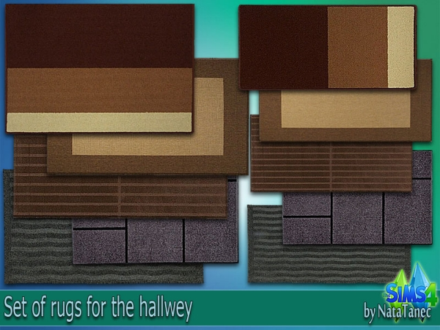 Set of rugs for the hallwey by Natatanec