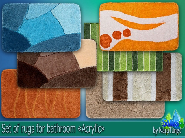 Set of rugs Acrylic by Natatanec