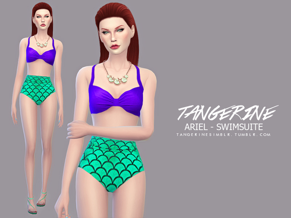 Ariel - Swimsuite by tangerinesimblr