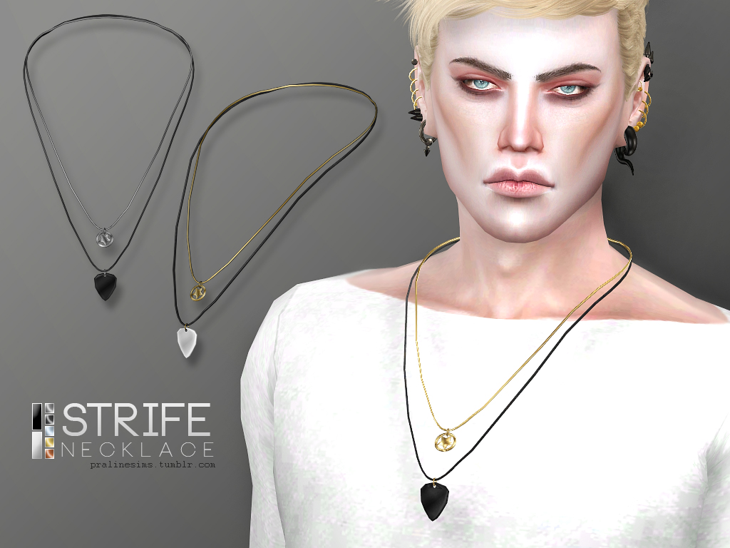 Strife Necklace by PralineSims