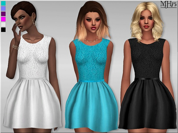-S4 Delicate Lace Dress- by Margeh-75