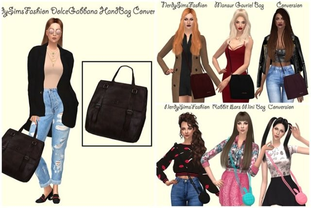 Bags Collection Conversion by NerdySimsFashion
