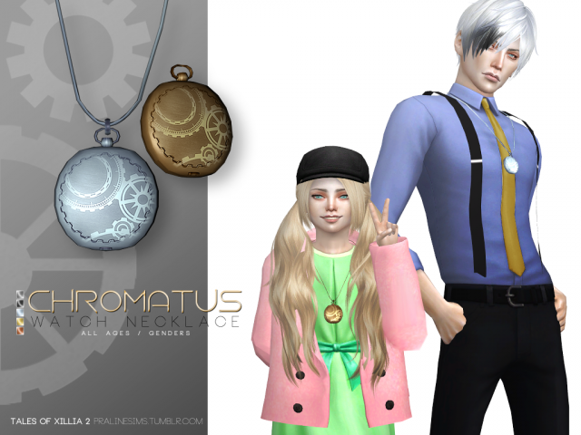 Chromatus Watch Necklace by Pralinesims