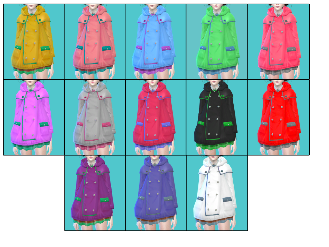 Rain Days Coat and Boots for Females by Zauma