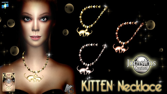 Kitten necklace by JomSims