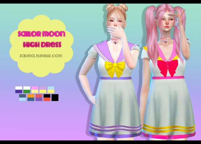 Sailor Moon High Dress by zauma