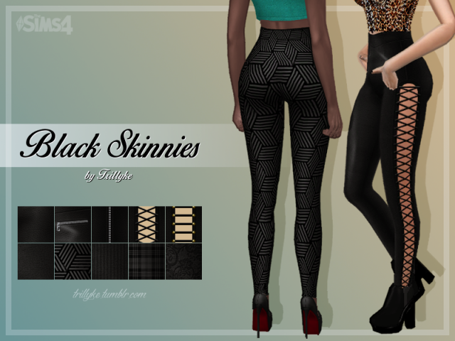 Black Skinnies by Trillyke
