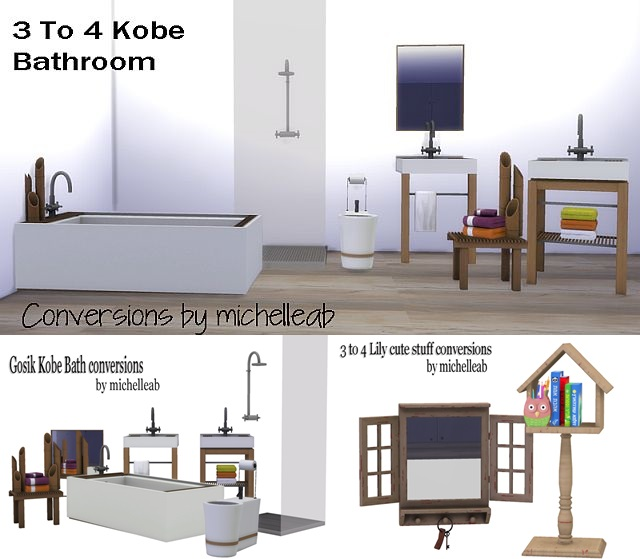 TS3 Kobe Bathroom Conversion by michelleab