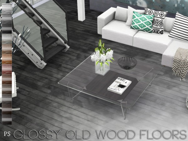 Glossy Old Wood Floors by Pralinesims
